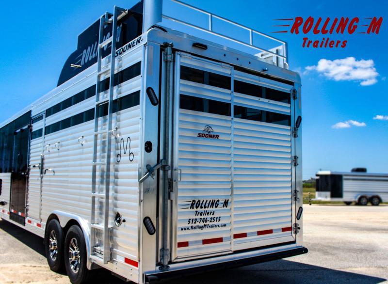 2022 Sooner Ranch 8032 10.4 ft Short Wall Livestock Trailer