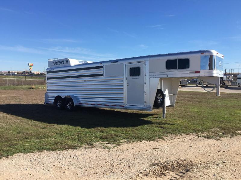 2020 Platinum Coach 24 ft Sport Combo Roper Special Livestock Trailer