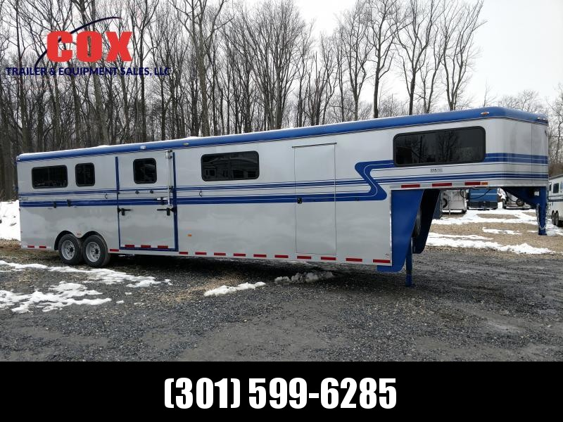2019 Hawk Trailers 6 Horse Head to Head Horse Trailer