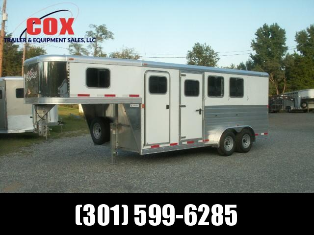 2015 Exiss 3-H GN SLANT EXTRA WIDE Horse Trailer
