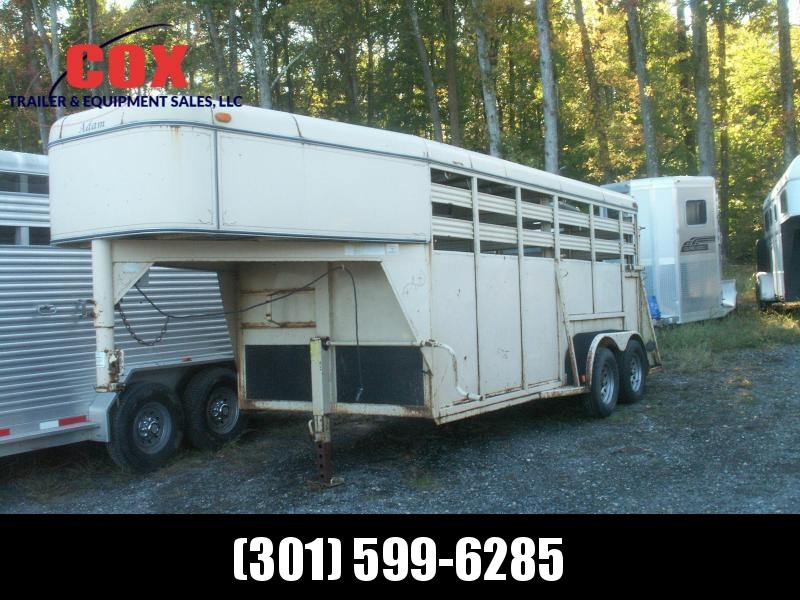 2001 Adam 16 GN STEEL STOCK TRAILER Livestock Trailer
