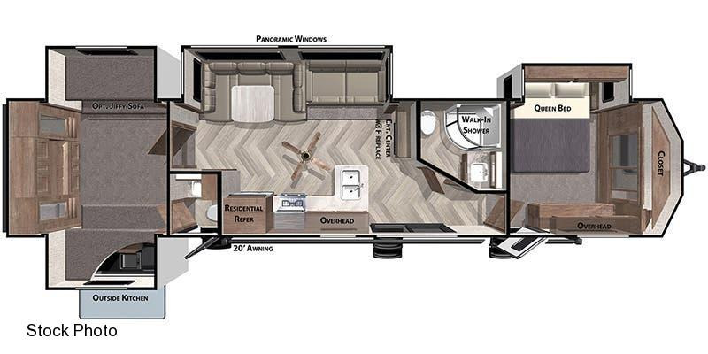 2021 Forest River Inc. Wildwood Lodge 42 QBQ Travel Trailer