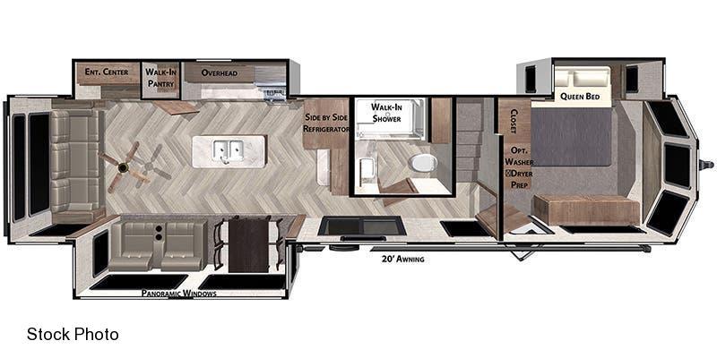 2021 Forest River Inc. Wildwood Lodge 42 DL Travel Trailer
