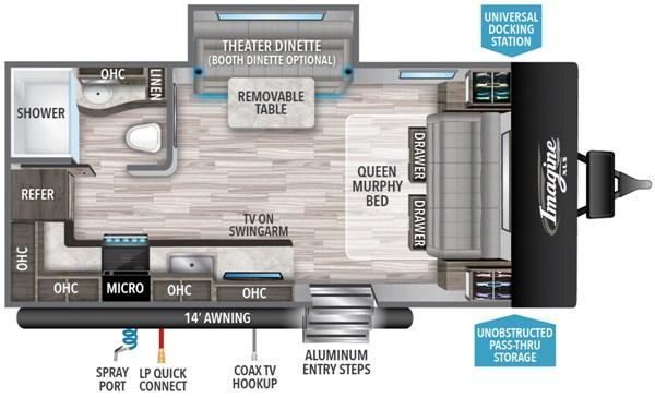 2021 Grand Design RV Imagine XLS 17 MKE Travel Trailer