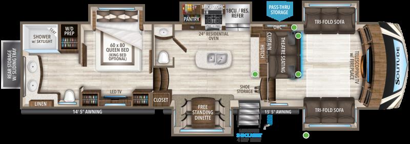 2021 Grand Design RV Solitude 380 FL-R Fifth Wheel Campers