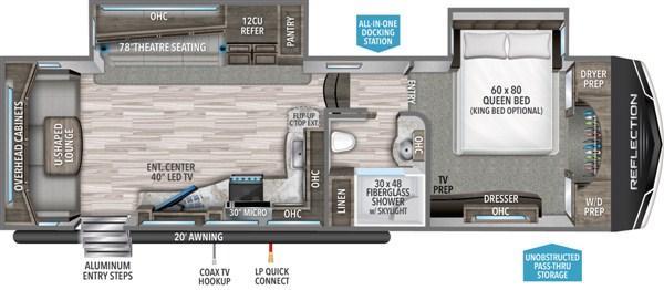 2021 Grand Design RV Reflection 310 RLS Fifth Wheel Campers