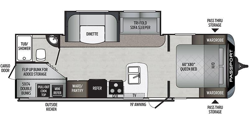 2021 Trailsport Passport SL 268 BH Travel Trailer