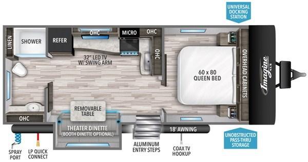 2021 Grand Design RV Imagine XLS 22 RBE Travel Trailer