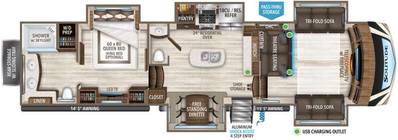 2021 Grand Design RV Solitude 380 FL-R Fifth Wheel Campers