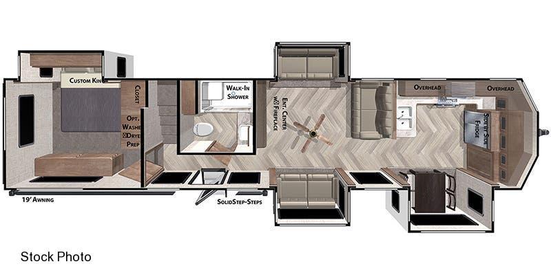 2021 Forest River Inc. Wildwood Lodge 42 FK Travel Trailer