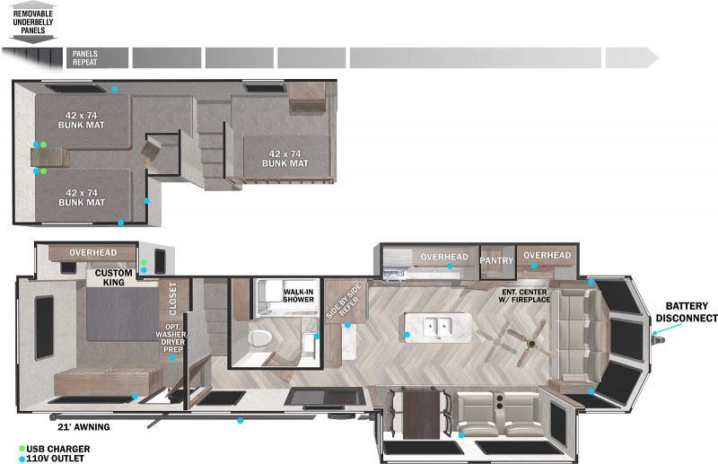 2022 Forest River Salem Grand Villa 42FLDL