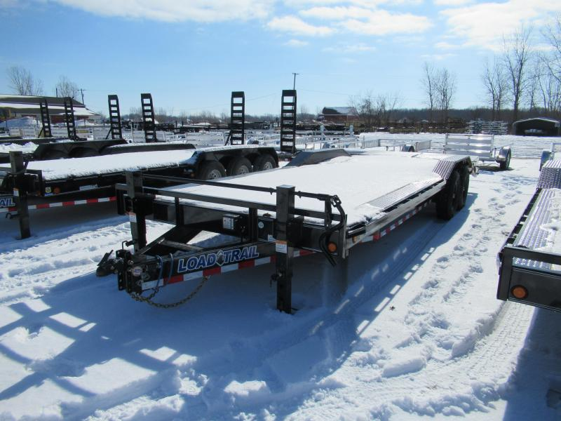 New 102x24 14K Load Trail Equipment Trailer W/ Rub Rail and Max Ramps