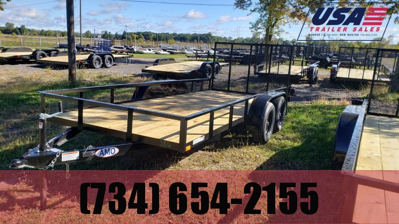 NEW 76X16 LANDSCAPE TRAILER W TWO AXLE BRAKE