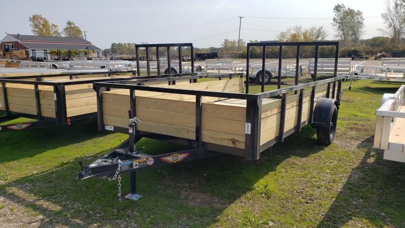 New 82X14 H H STEEL WOOD SIDE TRAILER