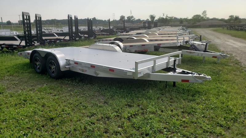 New 82x18 Aluminum Car Hauler Trailer  7K W/Aluminum Floor