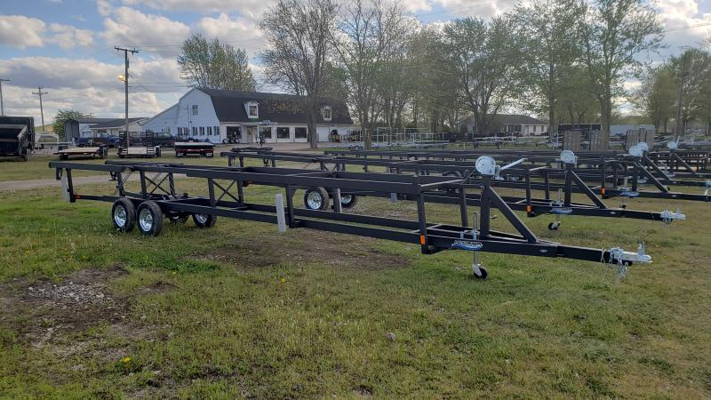 20-24 CRANK UP PONTOON TRAILER TANDEAM AXLE