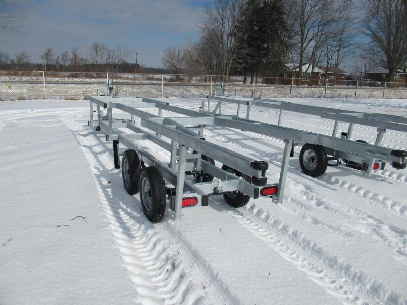 2021 Genesis 20' Tandeam Axle Crank up Pontoon Boat Trailer