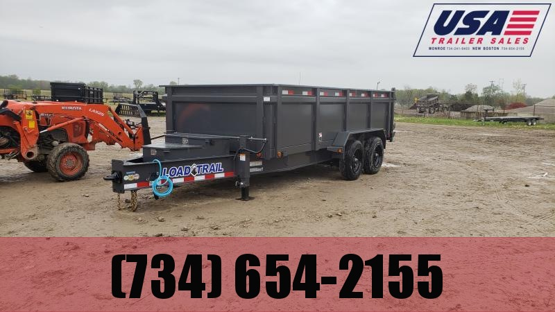 New Load Trail 83x16 20K Dump Trailer W/3' Walls