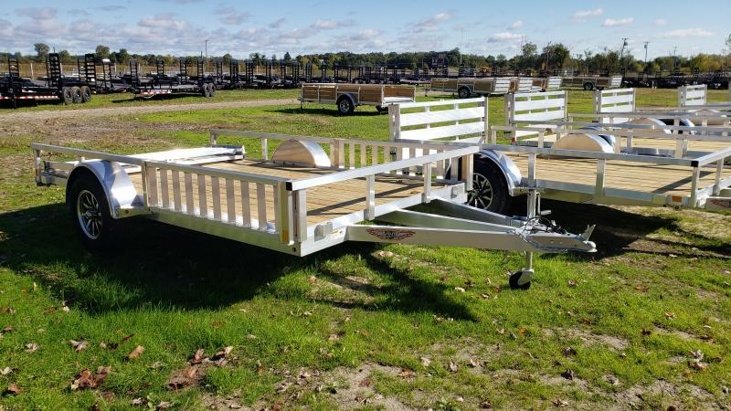 NEW 82X12 ALUMINUM SHORT SIDE TRAILER W ATV RAMPS