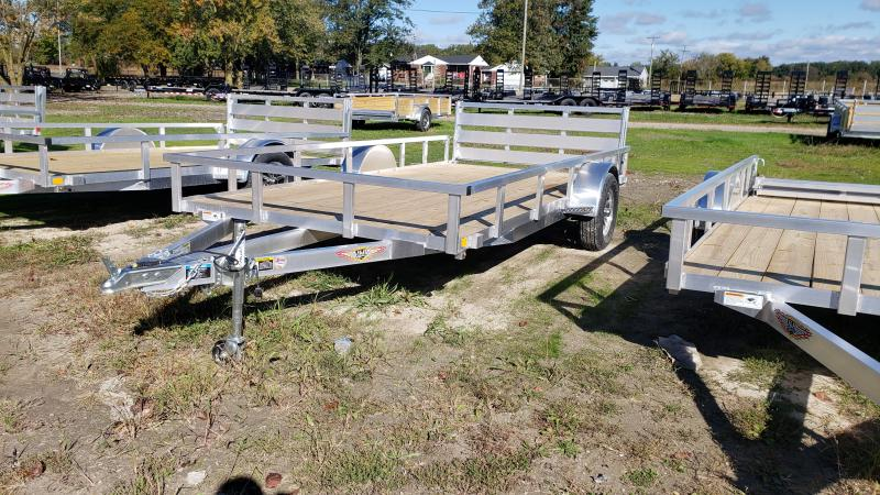 NEW 82X14 ALUMINUM SHORT SIDE TRAILER