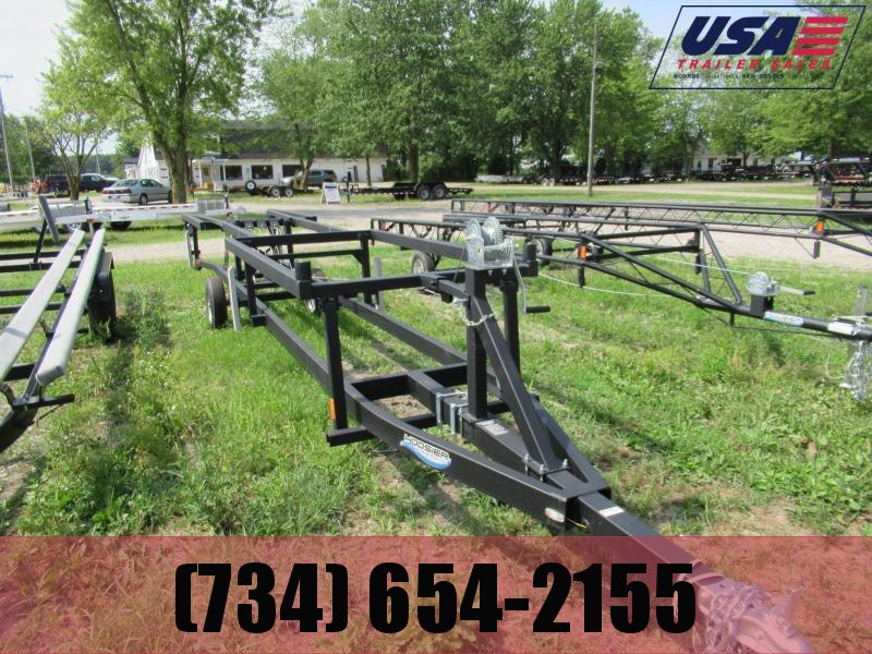 BX120 16-20 CRANK UP PONTOON TRAILER SINGLE AXLE