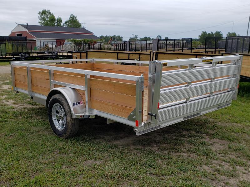 New 82x12 Aluminum Wood Side Landscape Trailer By H&H