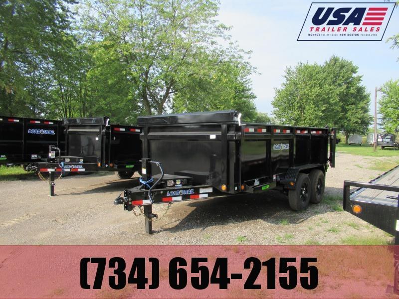 New Load Trail 83x14 14K Dump Trailer W 3 Walls
