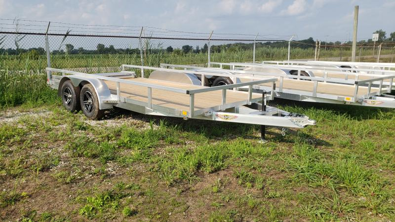 New H&H 82x16 Aluminum  Utility Trailer