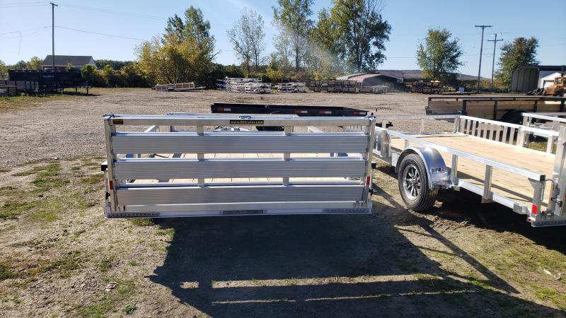 NEW 82X14 ALUMINUM SHORT SIDE TRAILER W ATV RAMPS