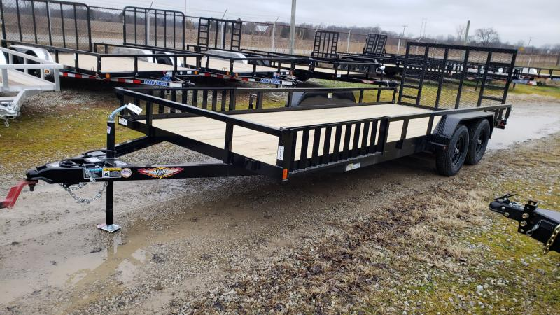 New 82x20 H&H 7K Landscape Trailer W/ ATV Side Ramps