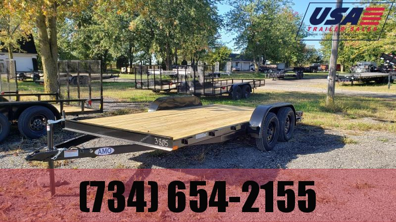 2021 AMO 16 Carhauler Trailer W 1 Axle Brake