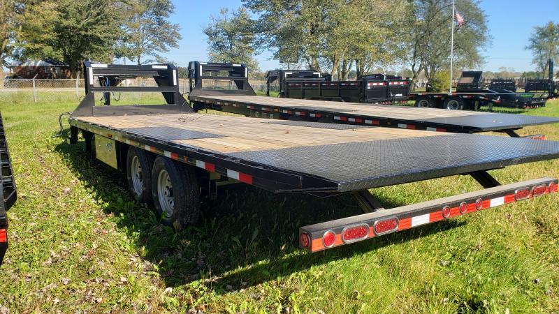 New 102X24 Gooseneck Deckover 14K Tilt Bed