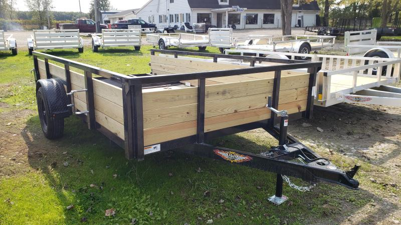 New 82X12 H H STEEL WOOD SIDE TRAILER