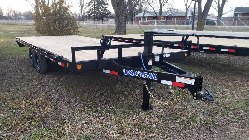 2021 Load Trail 102x20 14K Flatbed Deck Over Flatbed Trailer