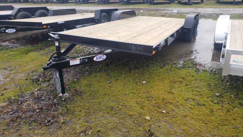 New 82x20 Carhauler Trailer W 2 Axle Brake W/4' Dove