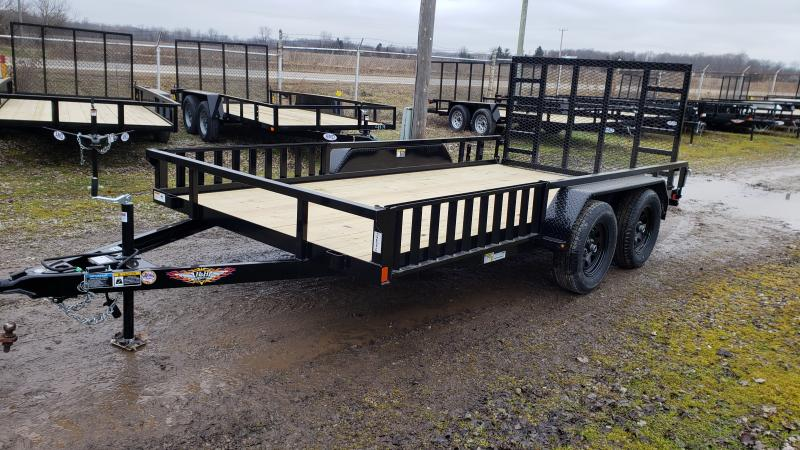 New 82x14 H&H 7K Landscape Trailer W/ ATV Ramps