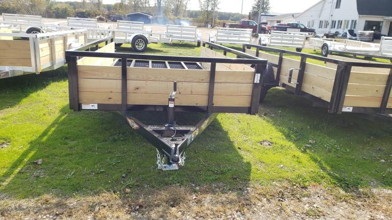 New 76X12 H H STEEL WOOD SIDE TRAILER