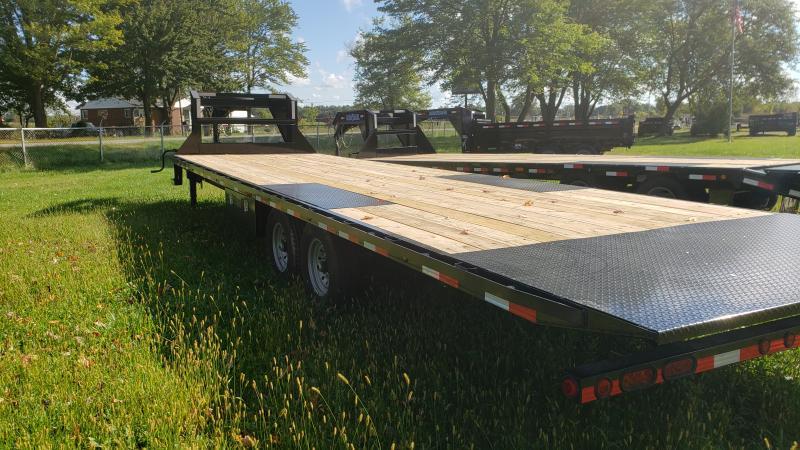 New 102X30 Gooseneck Deckover 14K Tilt Bed