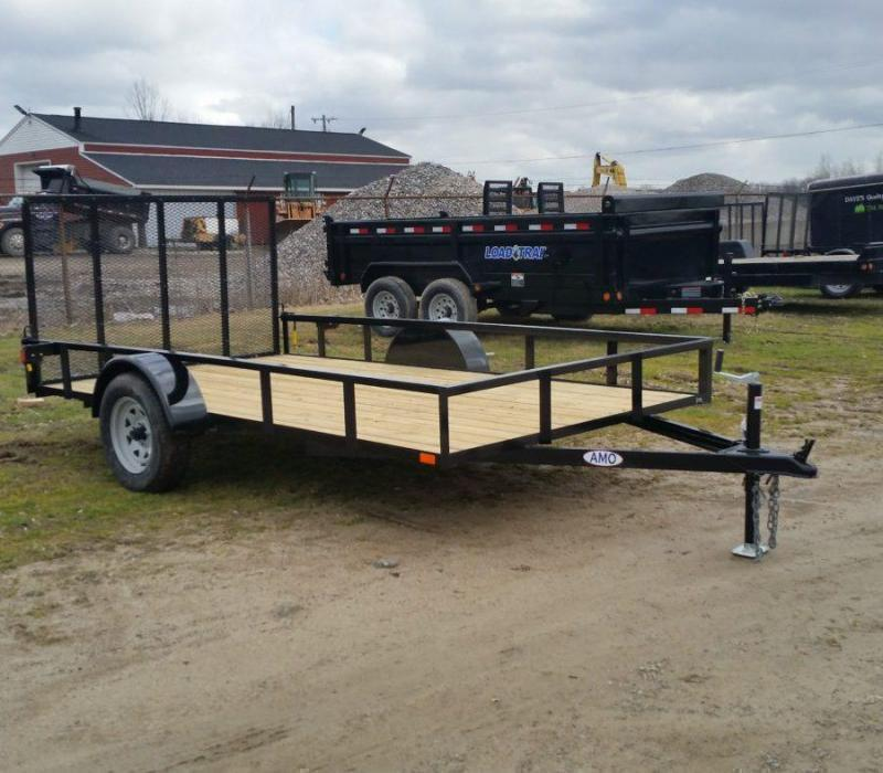 New 6.4x10 Short Side Landscape Utility Trailer