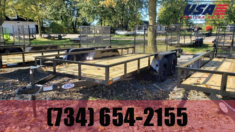 NEW 76X16 LANDSCAPE TRAILER W ONE AXLE BRAKE