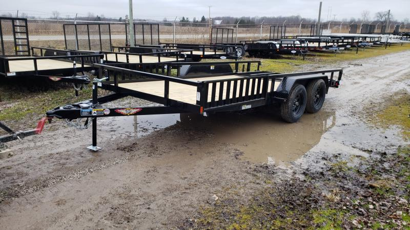 New 82x16 H&H 7K Landscape Trailer W/ATV Ramps