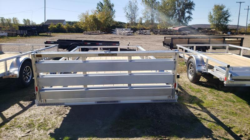 NEW 82X14 ALUMINUM SHORT SIDE TRAILER W ATV RAMPS
