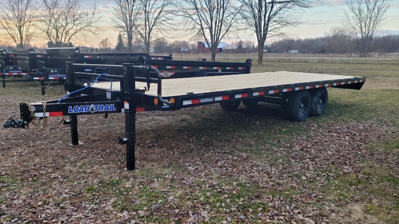 New Load Trail 24' 14K Flatbed Deck Over Trailer