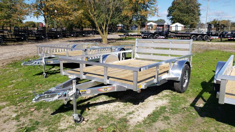 NEW 76X10 ALUMINUM SHORT SIDE TRAILER