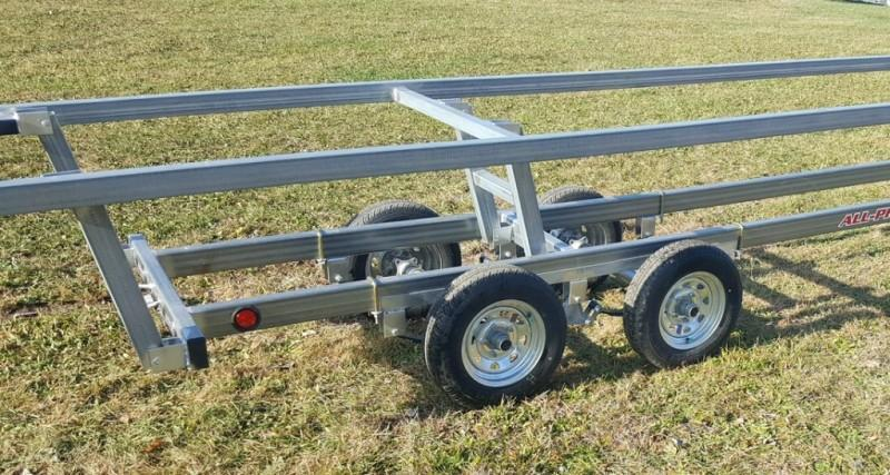2020 Wolverine 24' Pontoon Trailer All Pro Galvanized Tandem Crank Up