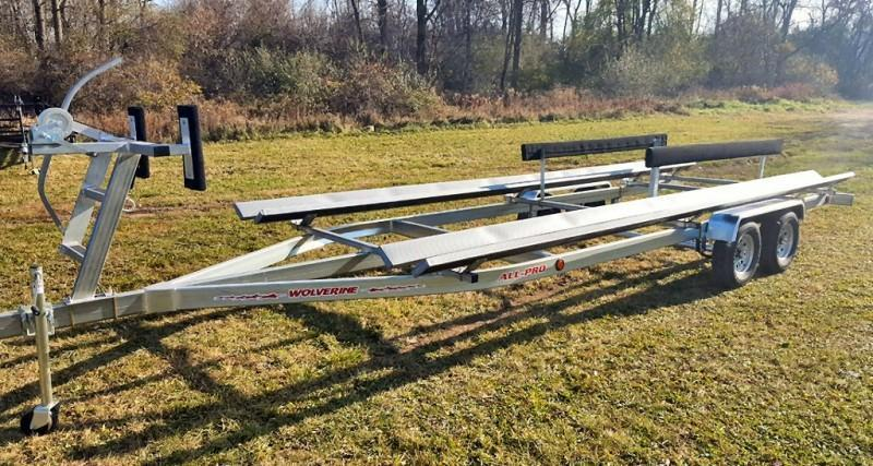 2020 Wolverine 26' Pontoon Trailer All Pro Galvanized Tandem Bunk