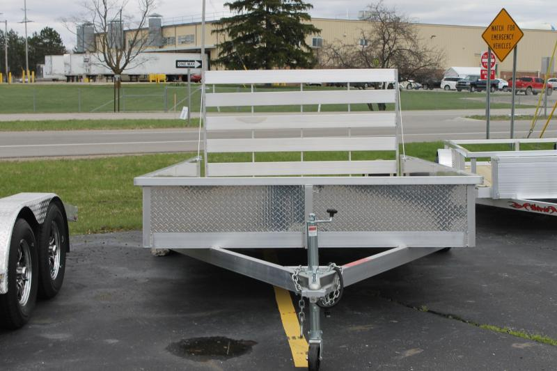 2021 Wolverine Trailers Aluminum Utility Trailer 7x14 Raised Sides With  Ramp
