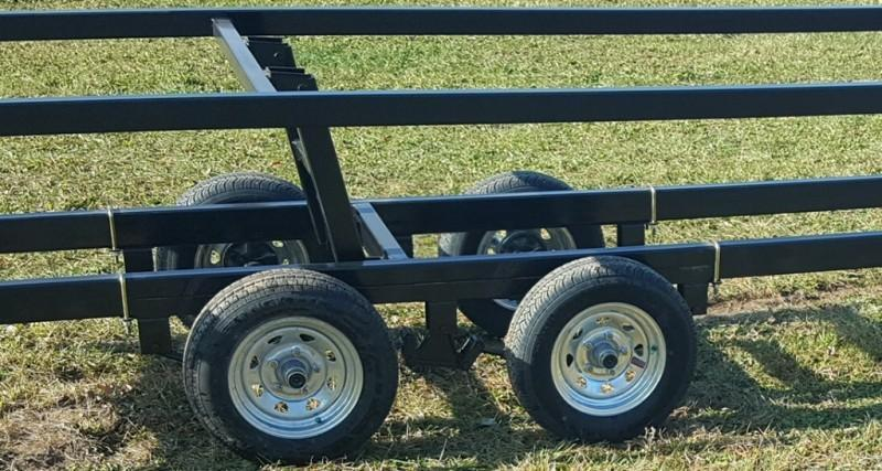 2020 Wolverine 24' All Star Painted Pontoon Trailer Tandem Crank-Up