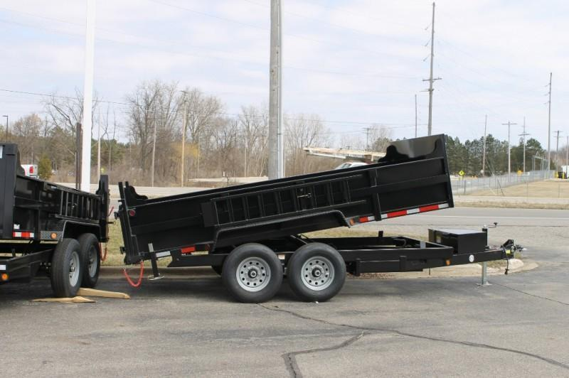 "2021 Quality Steel and Aluminum 83"" x 14' 14K Tandem Axle Dual Ram  Dump Trailer"