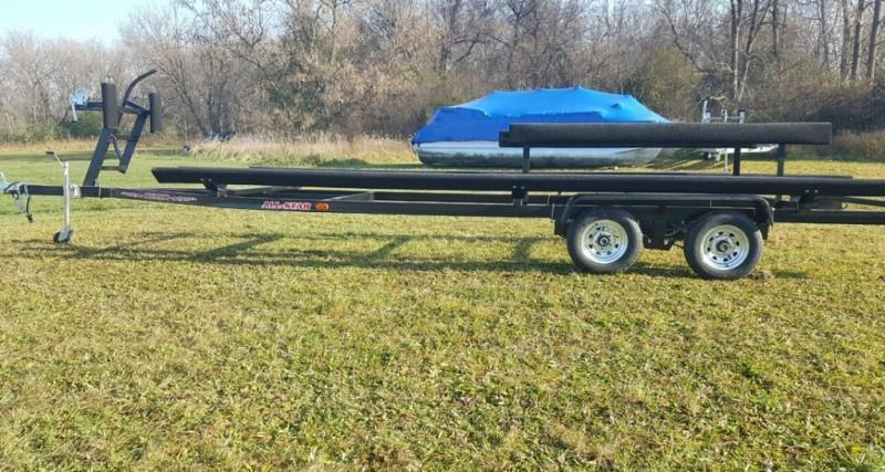 2021 Wolverine 26' All Star Painted Tandem Bunk Pontoon Trailer